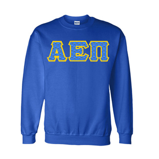 Alpha Epsilon Pi Fraternity Crest - Shield Twill Letter Crewneck Sweatshirt