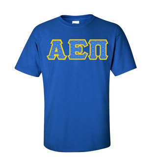 Alpha Epsilon Pi Fraternity Crest - Shield Twill Letter Tee
