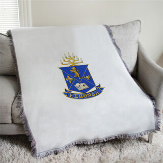 Alpha Epsilon Pi Full Color Crest Afghan Blanket Throw