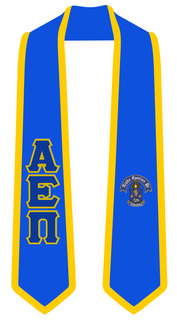 Alpha Epsilon Pi Greek 2 Tone Lettered Graduation Sash Stole