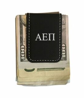 Alpha Epsilon Pi Greek Letter Leatherette Money Clip