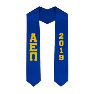 Alpha Epsilon Pi Greek Lettered Graduation Sash Stole With Year - Best Value