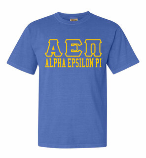 Alpha Epsilon Pi Greek Outline Comfort Colors Heavyweight T-Shirt