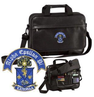 DISCOUNT-Alpha Epsilon Pi Crest - Shield Briefcase Attache