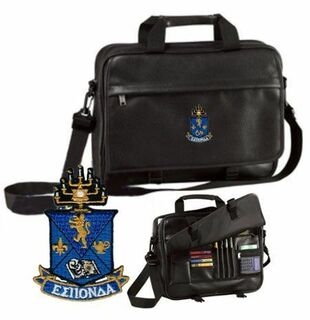 DISCOUNT-Alpha Epsilon Pi Crest - Shield Briefcase Attache