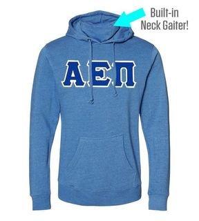 Alpha Epsilon Pi Lettered Gaiter Fleece Hooded Sweatshirt