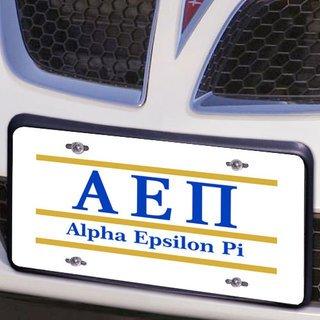 Alpha Epsilon Pi Lettered Lines License Cover