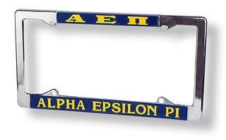 Alpha Epsilon Pi License Plate Frame