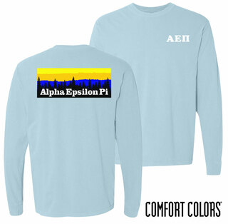 Alpha Epsilon Pi Outdoor Long Sleeve T-shirt - Comfort Colors