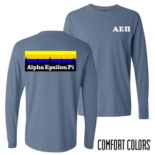Alpha Epsilon Pi Outdoor Long Sleeve T-shirt - Comfort Colors