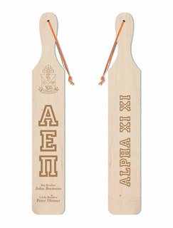 Alpha Epsilon Pi Old School Wood Greek Paddle