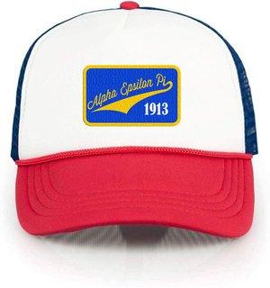 Alpha Epsilon Pi Red, White & Blue Trucker Hat