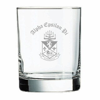 Alpha Epsilon Pi Old Style Glass