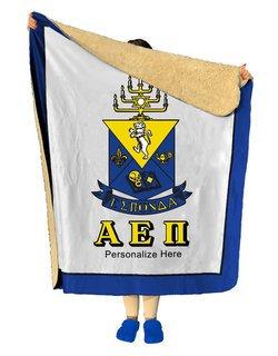Alpha Epsilon Pi Sherpa Lap Blanket