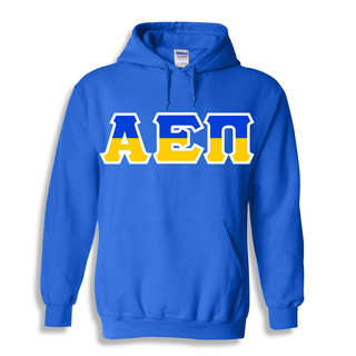 Alpha Epsilon Pi Two Tone Greek Lettered Hooded Sweatshirt