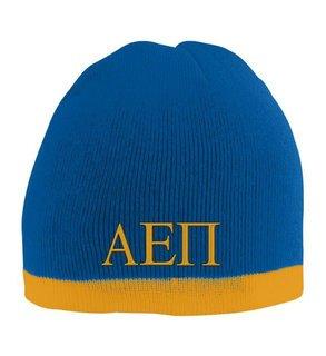 Alpha Epsilon Pi Two Tone Knit Beanie