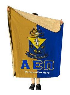 Alpha Epsilon Pi Two Tone Sherpa Lap Blanket