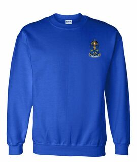 DISCOUNT-Alpha Epsilon Pi World Famous Crest - Shield Crewneck Sweatshirt