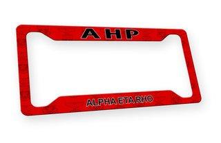 Alpha Eta Rho Custom License Plate Frame