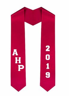 Alpha Eta Rho Greek Diagonal Lettered Graduation Sash Stole With Year