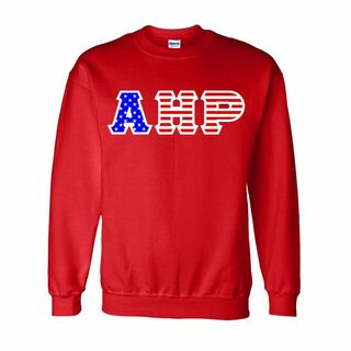 Alpha Eta Rho Greek Letter American Flag Crewneck
