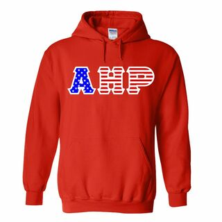 Alpha Eta Rho Greek Letter American Flag Hoodie