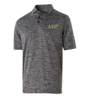 Alpha Eta Rho Subtle  Greek Letter Electrify Polo