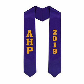 Alpha Eta Rho Greek Lettered Graduation Sash Stole With Year - Best Value