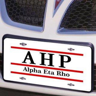 Alpha Eta Rho Lettered Lines License Cover