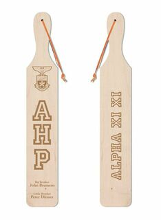 Alpha Eta Rho Old School Wood Greek Paddle