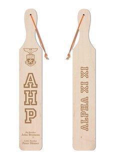 Alpha Eta Rho Old School Wood Greek Paddle