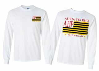 Alpha Eta Rho Stripes Long Sleeve T-shirt