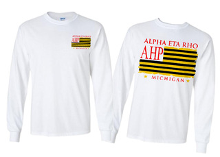 Alpha Eta Rho Stripes Long Sleeve T-shirt - Comfort Colors