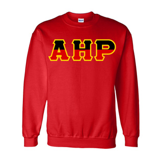 Alpha Eta Rho Two Tone Greek Lettered Crewneck Sweatshirt