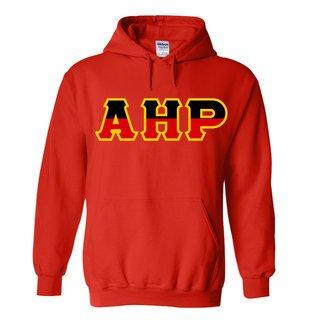 Alpha Eta Rho Two Tone Greek Lettered Hooded Sweatshirt