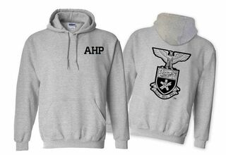 Alpha Eta Rho World Famous Crest - Shield Hooded Sweatshirt- $35!
