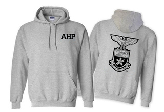 Alpha Eta Rho World Famous Crest - Shield Hooded Sweatshirt- $35!