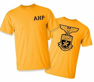 Alpha Eta Rho World Famous Crest - Shield Tee