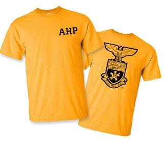 Alpha Eta Rho World Famous Crest - Shield Tee