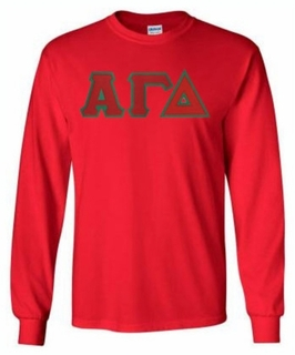 Alpha Gamma Delta $25 Lettered Long Sleeve Tee- MADE FAST!