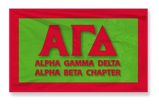 Alpha Gamma Delta 3 X 5 Flag