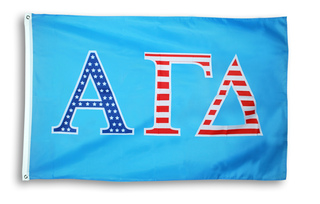 Alpha Gamma Delta 3 X 5 USA Flag