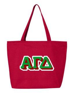 Alpha Gamma Delta 3D Letter Tote Bag