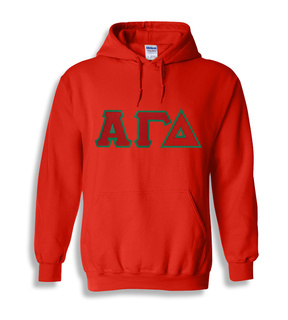 Alpha Gamma Delta $45 Lettered Greek Hoodie- MADE FAST!