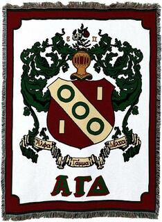Alpha Gamma Delta Afghan Blanket Throw