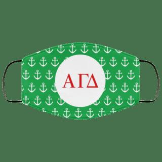 Alpha Gamma Delta Anchors Face Mask