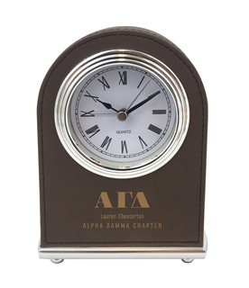 Alpha Gamma Delta Arch Desk Clock