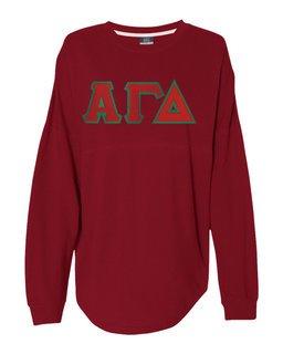 DISCOUNT-Alpha Gamma Delta Athena French Terry Dolman Sleeve Sweatshirt