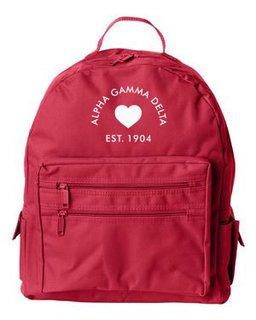 DISCOUNT-Alpha Gamma Delta Mascot Backpack