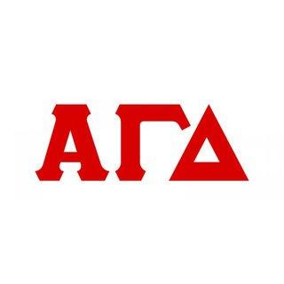 Alpha Gamma Delta Big Greek Letter Window Sticker Decal
